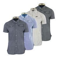 Mens Shirt Firetrap Gorst Geometric Desigh Short Sleeve Casual Top