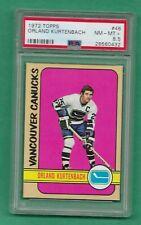 1972 Topps - Orland Kurtenbach - #46 - PSA 8.5 - NM-MT+ - Vancouver Canucks **