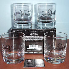 Jack Daniel's Double Old Fashioned SET/4 Glasses Signature Series DOF New