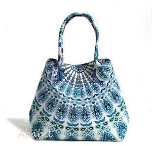 New Hippie Multi Mandala Cotton Beach Purse Hobo Bag Women's Shopping Bags Throw