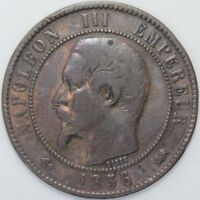 1856 D | France 10 Centimes | Bronze | Coins | KM Coins