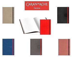 Caran d'Ache A5 Notebook Journal Sketchbook Plain Ruled Elasticated Paper Book