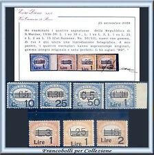 1936-39 San Marino Segnatasse Serie completa n 47/53 Cert Diena Nuovi Integri **