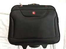 Swiss gear rolling black bag! 4 compartments(used)