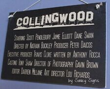 Collingwood Footy Movie Style Sign With Present & Past Players Bar Man Cave Sign