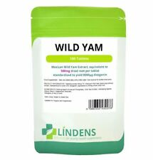 WILD YAM 100 TABLETS 500mg FOR MENSTRUAL & MENOPAUSAL SYMPTOMS (UK MADE)