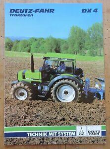 orig. Prospekt Deutz DX 4 Traktor Schlepper 12Seiten +Datenblatt 1988