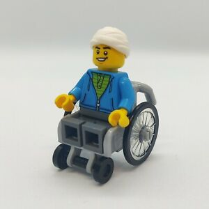 Lego Minifigure Wheelchair and Minifigure part no. 24312 BRAND NEW