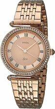 Fossil Women's ES4711 Lyric 32mm Rose Gold Dial Stainless Steel Watch