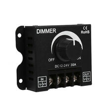 12-24V 30A Manual LED Switch Dimmer Controller Metal Rotary Knob for Strip Light