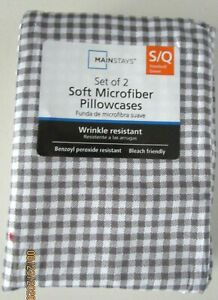 MAIN STAY SET OF 2 SOFT MICROFIBER PILLOWCASES--WRINKLE RESISTANT  S/Q