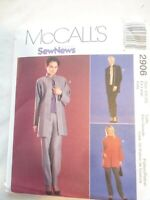Vintage 2000 Sewing Pattern Jacket-Top & Pull on Pants Size 20-22 Ex Large Uncut