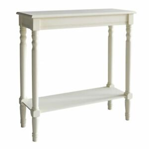 Heritage Console Table, Antique White