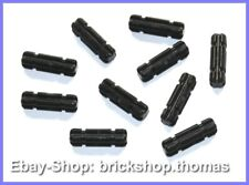 Lego 10 x Technic Kreuzstangen schwarz - 32062 Black Axle 2 Notched - NEU / NEW