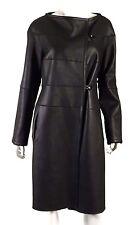 KAUFMANFRANCO Black Shearling & Lambskin Leather Reversible Coat M