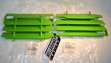 NEW OEM Kawasaki KX500 set of green radiator guards covers 1988-1995