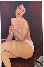 Amedeo Modigliani, Nu Asis, Nude Offset Lithograph1942,Plate Nr.18 Plate-signed