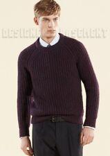 GUCCI Mens XXL aubergine Wool CASHMERE blend crewneck LOGO Tab sweater NWT Auth