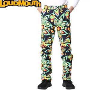Loudmouth Golf Pants 36W 32L Retro Shagadelic Multicolour Cotton Trousers Pants