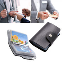 Men Slim Leather 24 Cards ID Credit Card Holder Pocket Case Business Purse