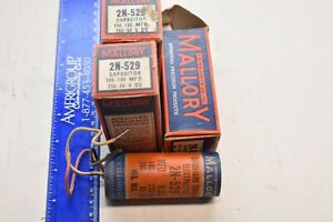 LOT OF 3 Vintage NOS  Mallory Capacitors 2n-529
