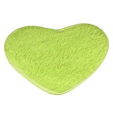 Non-slip Bath Mats Coral Fleece Heart Room Door Floor Rug Carpet Home Decor New