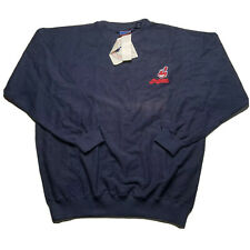 Vintage 90s Crablesportswear Cleveland Indians Mens Sz Large Crewneck Sweatshirt