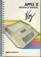 Steve Wozniak SIGNED AUTOGRAPHED Apple II ][ Reference Manual Computer Founder