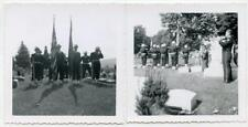 Solemn Military Funeral Bugler Plays Taps Cemetery 2 Vintage 1950s Photos