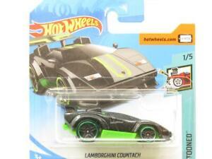 Hot Wheels Lamborghini Countach Black 181/365 Short Card 1 64 Scale Sealed New