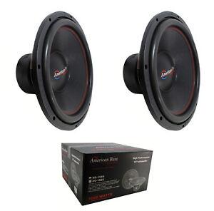 "2 x 15"" Subwoofer 2000W 4 Ohm DVC Pro Car Audio American Bass XO-1544"
