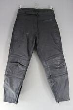 RIOSSI BLACK COWHIDE LEATHER BIKER TROUSERS SIZE 16-WAIST 32 IN/INSIDE LEG 29 IN