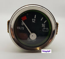 "8-12-16 Bar Coche Auto Cromo Voltios Voltímetro Voltaje metro calibre reloj 52 mm 2"" Dia"