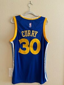 NWT Stephen Curry #30 Golden State Warriors Blue Jersey Men's Stitched Large (L)