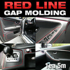 Edge Gap Red Line Interior Point Molding Accessory Trim 5meter for HYUNDAI Car