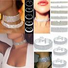 3 style Women Full Diamond Crystal Rhinestone Choker Necklace Wedding Jewelry