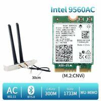 1730Mbps Wifi Card Antenna Dual Band Wireless AC 9560 Desktop Bluetooth