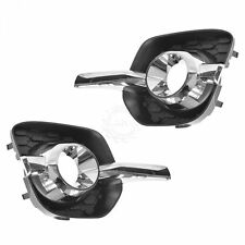GM Fog Light Bezel Black & Chrome Side Pair Set for 10-14 Chevy Equinox LT LTZ