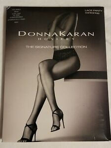 Donna Karan Lace Panty Control Top Tights, Black, Tall