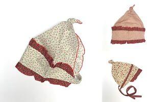 BABY GIRLS SUMMER HEADSCARFS HATS 6-12 Months(48cm), 1-3 years(52cm)  100%COTTON