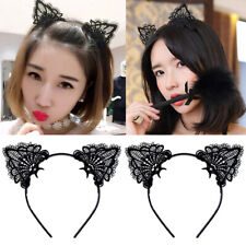 Christmas Women Lace Cat Ears Hair Hoop Costume Headband Fancy Festival Party
