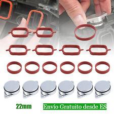 6x TAPAS COLECTOR  22MM MARIPOSAS PALOMETAS ADMISIÓN PARA BMW E46 E90 E60 KIT