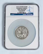 2014 Canada Silver $200 - Towering Forests - PF 70 MATTE ER - NGC COIN - RARE !!