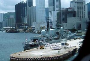 HMS Manchester D95 yr 1986 Hong Kong V205 35mm Ship Slide