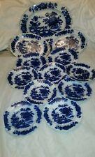 Ashworth Flow Blue platter And Plates