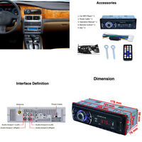 12V Car Stereo Audio MP3 Player Radio Bluetooth Player USB/AUX/MMC/FM