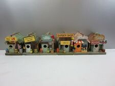 Six Collectable Birdhouses, Bait Shop, Saloon Pro Shop, Barber , Flower, General