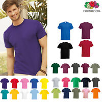 Fruit of the Loom Original Tee - Men's Plain Casual/Work Cotton T-shirt S-5XL