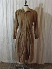 NOS NWOT Vtg 1980s TAN CORDUROY LS SHIRTWAIST DRESS 10 Fall Season Casual NEW!