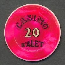 D´Alet Casino 20 Francs Jeton Alet les BainsLanguedoc-Roussillon/France